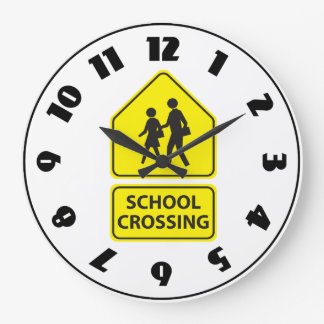 School Crossing Sign Clock
