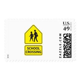 School Crossing Sign Postage