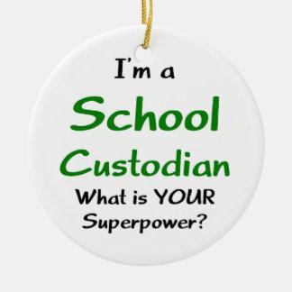 school custodian ceramic ornament