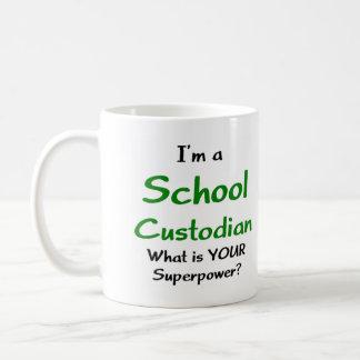 School custodian mugs