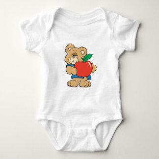 School Days Apple Teddy Bear Baby Bodysuit