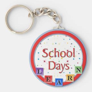 School Days Blocks Key Chain