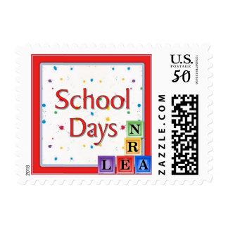 School Days Blocks Postage