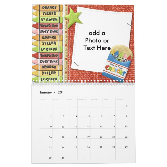 School Days Calendar