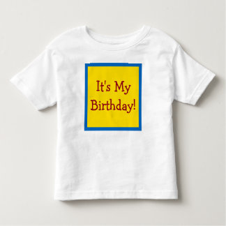School Days Colorful Happy Birthday Song Toddler T-shirt