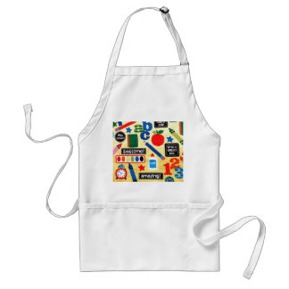 School Days Fabric Print Adult Apron