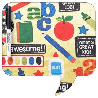 School Days Fabric Print Dry-Erase Board