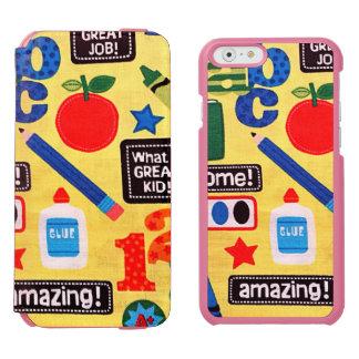 School Days Fabric Print iPhone 6/6s Wallet Case