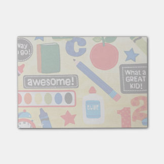 School Days Fabric Print Post-it® Notes