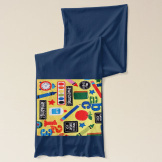 School Days Fabric Print Scarf