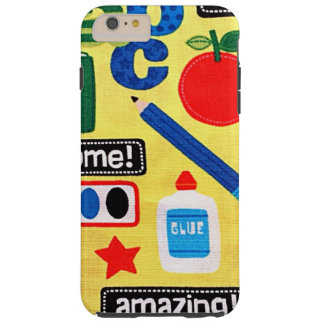 School Days Fabric Print Tough iPhone 6 Plus Case