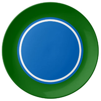 School Days Green With Blue and White Plate
