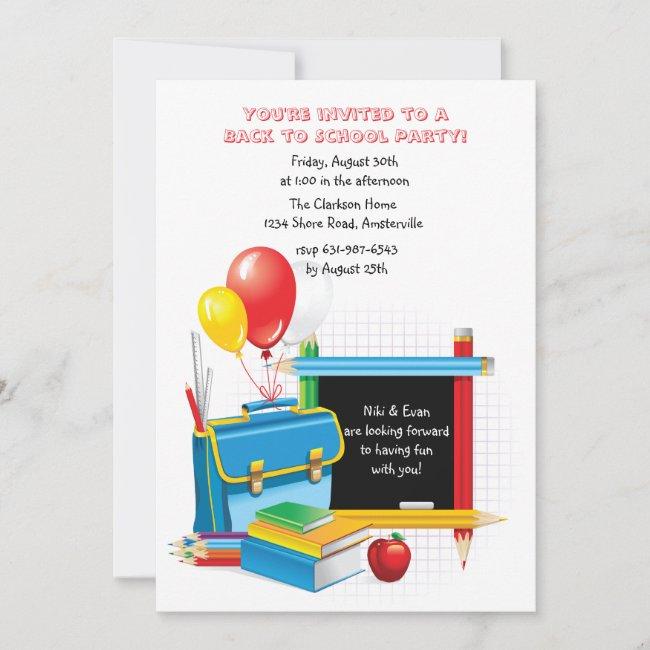 School Days Invitation
