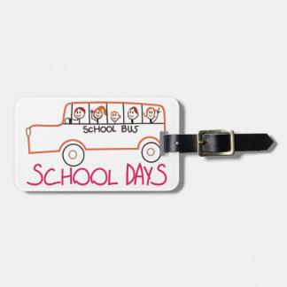 School Days Luggage Tag