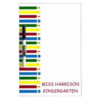 School Days Pencils Personalized Dry Erase Board