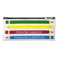 School Days Pencils Personalized Pencil Case