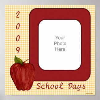 School Days Scrapbook Page Poster