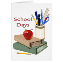 School Days Still Life Card