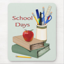 School Days Still Life Mouse Pad