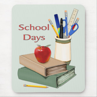 School Days Still Life Mouse Pads