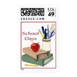 School Days Still Life Postage Stamp