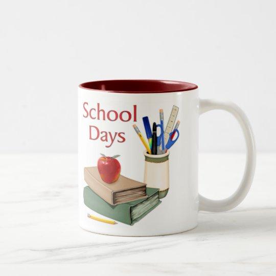 School Days Still Life Two-Tone Coffee Mug