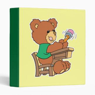 School Days Study Bear Binder