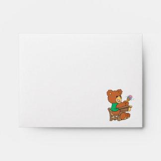 School Days Study Bear Envelope