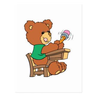School Days Study Bear Postcard