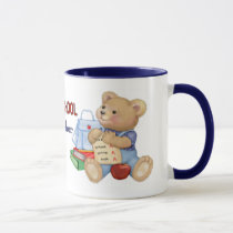 School Days Teddy - Preschool Teacher Mug