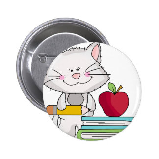 School Days with Cat Pinback Button