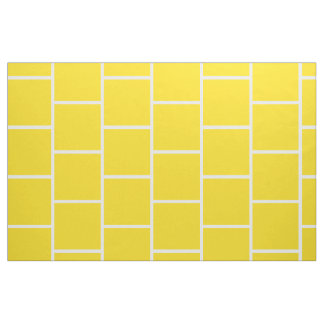 School Days Yellow Subway Tile On White Fabric