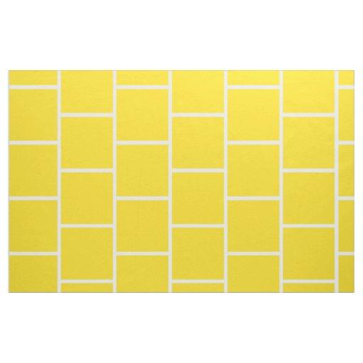 school days yellow subway tile on white fabric zazzle