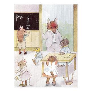 School de señora Owl's Tarjeta Postal