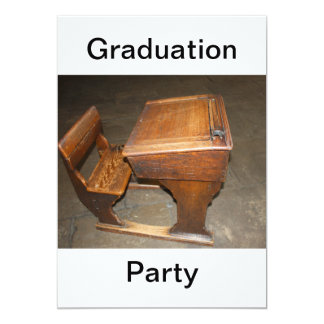 School Desk and Chair Graduation Party Invitation