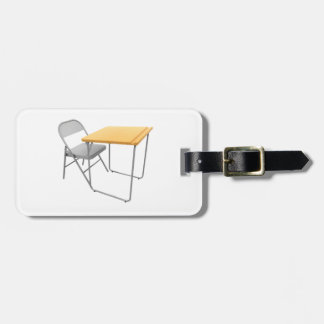 School Desk and Chair Luggage Tags