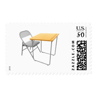 School Desk and Chair Postage