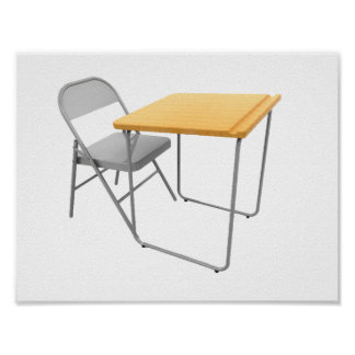 School Desk and Chair Poster