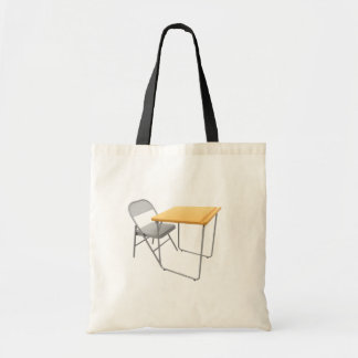 School Desk and Chair Tote Bag