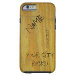 School Desk graffiti iPhone 6 Case