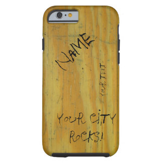 School Desk graffiti Tough iPhone 6 Case