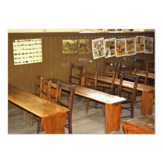 School Desks and Chairs Invitation