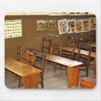 School Desks and Chairs Mousepad