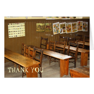 School Desks and Chairs Thank You Card Greeting Card