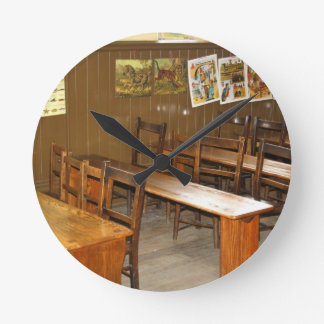 School Desks and Chairs Wall Clocks