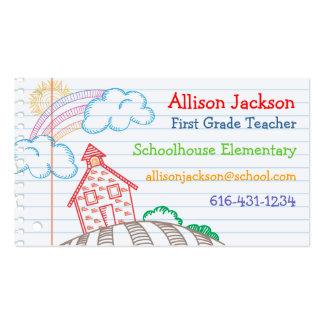 School Doodle Business Card