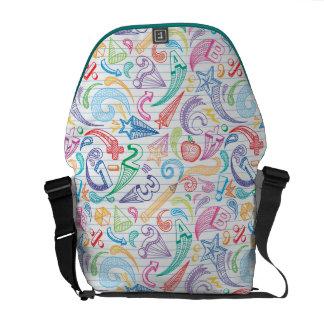 School Doodles Messenger Bag