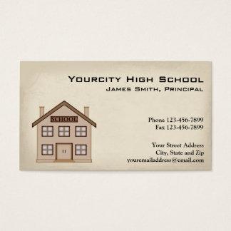 School Education Business Card