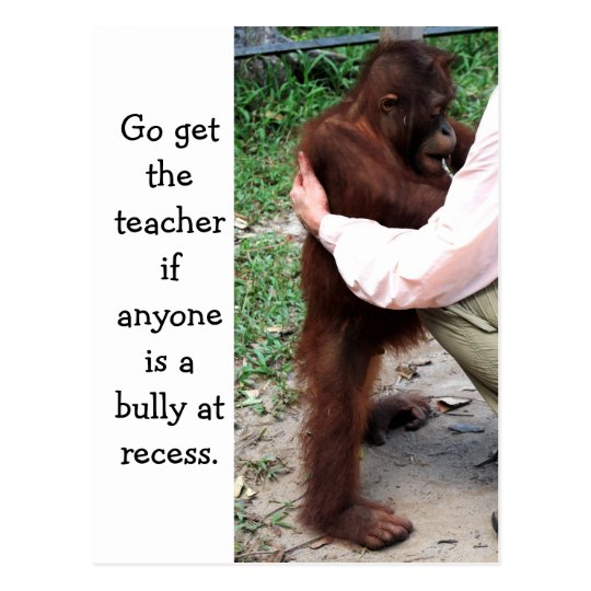 School Education Say No to a Bully Postcard