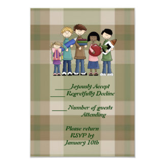 School Essentials 3.5x5 Paper Invitation Card
